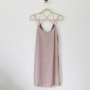 Thread & Supply Blush Rose Criss Cross Dress